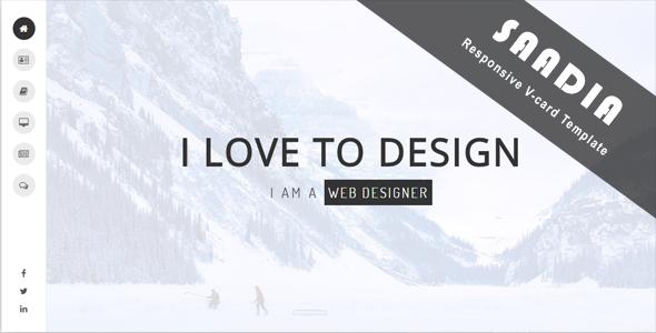 Saadia – Resume, CV, v-Card & Portfolio            TFx Brad Ryota