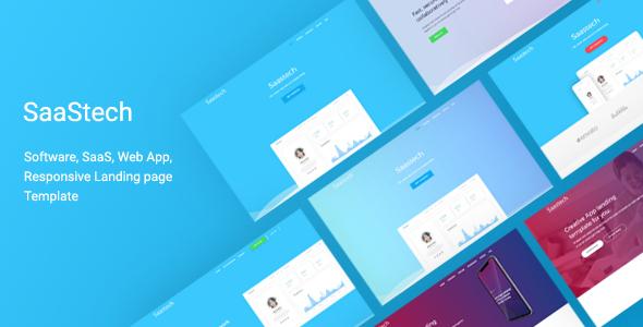 Saastech - Software, Saas, App Responsive  Template            TFx Mitch Nyoman