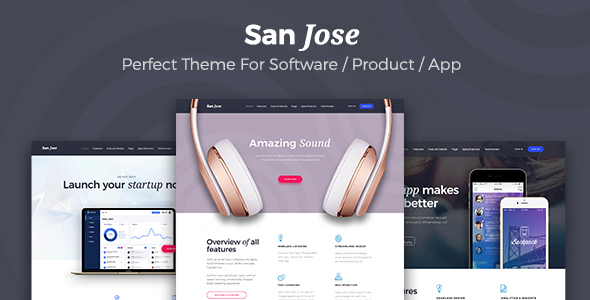 San Jose  - Creative Multipurpose Software / SaaS Product WordPress Theme            TFx Curtis Jordan