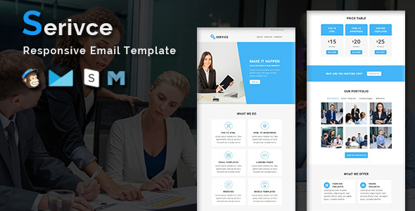 Service – Multipurpose Responsive Email Template With Stamp Ready Builder Access            TFx Kurtis Nur