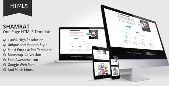 Shamrat One Page HTML5 Template            TFx Gale Katsuro