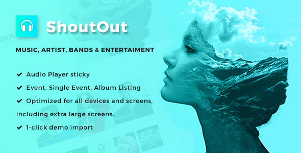 ShoutOut - A Clean WordPress Music Theme            TFx Gyles Napier