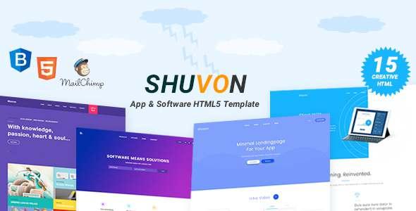 Shuvon - App & Software Multipurpose Marketing Landing Page Template            TFx Kazuki Davis