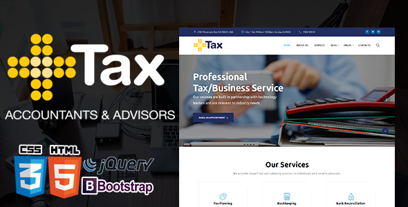 Tax Advisor - Financial & Accounting HTML5 TEMPLATE            TFx Riku Erle