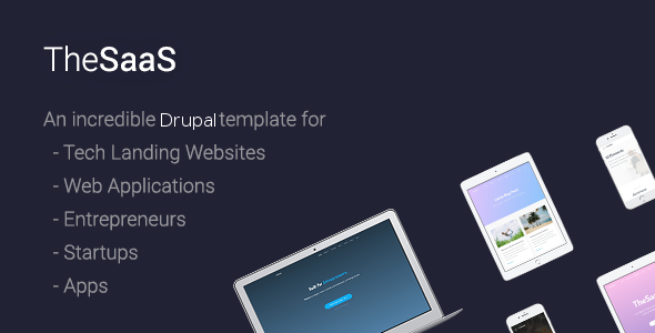 TheSaaS – Responsive SaaS, Software & WebApp Drupal 8 Themes            TFx Urban Don
