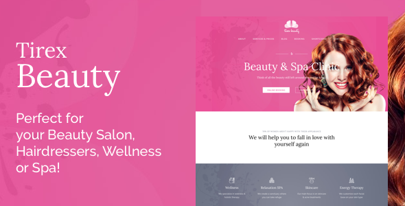 Tirex Beauty - WordPress Theme For Beauty Salons            TFx Branden Iggy