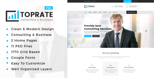 TopRate : Consulting Business PSD Template            TFx Maitland Drew
