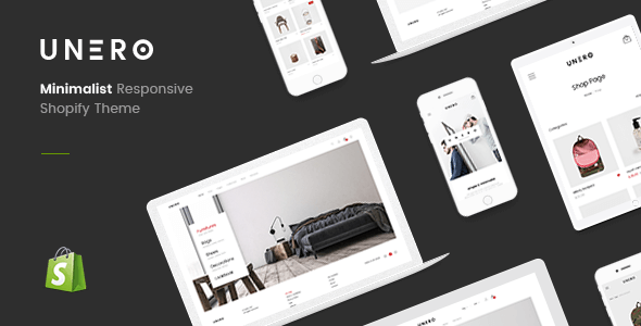 Unero - Clean & Minimal Shopify Sections Theme            TFx Jeremy Gabriel