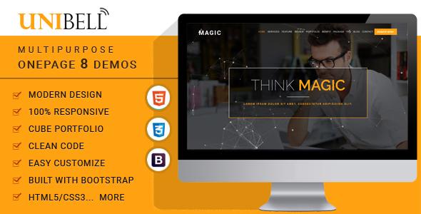 Unibell - Multipurpose Onepage WordPress Theme            TFx Hideki Jasper