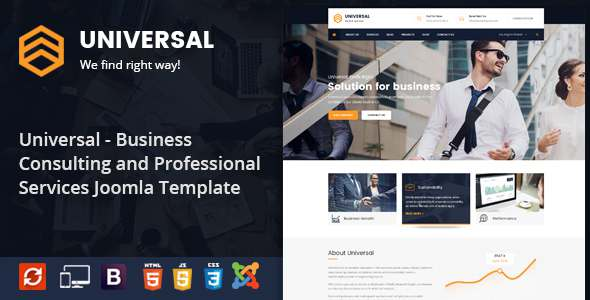 Universal - Business Consulting and Professional Services Joomla Theme            TFx Zeph Lewis