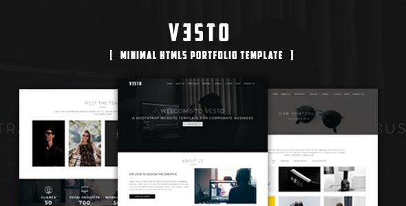 Vesto-Minimal Portfolio Template            TFx Delbert Shawn