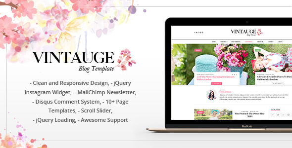 Vintauge - Responsive Blog & Fashion Ghost Blog Theme            TFx Linford Hovsep