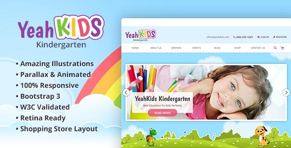 Yeah Kids - Children & Kindergarten HTML Template            TFx Dominic Kenshin
