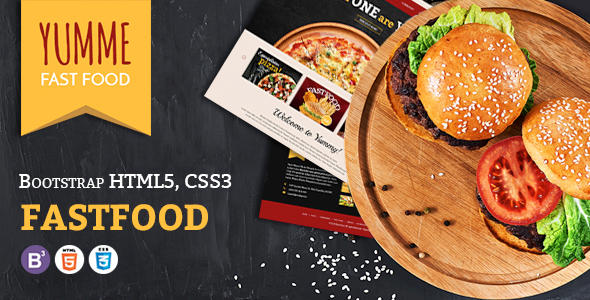 Yumme - HTML Template for Pizza, Food, Coffee & Drink Restaurant Bar Cafe Shop Takeaway Delivery            TFx Boris Krisna
