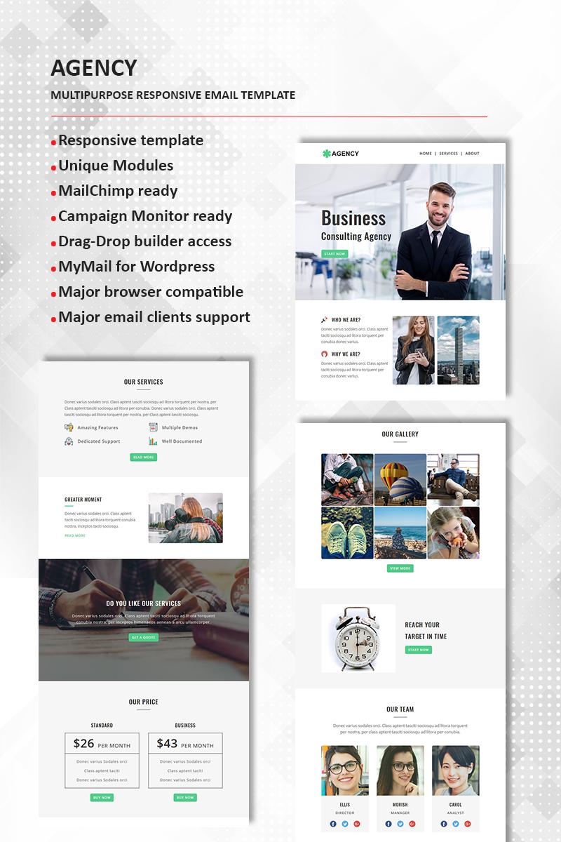 Agency - Multipurpose Responsive Newsletter Template TMT Josh Gabe