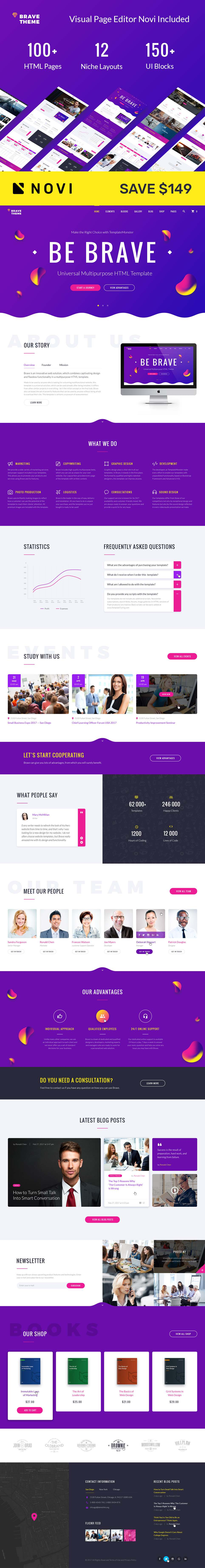 Brave Theme – Multipurpose HTML Website Template TMT Eko Steven
