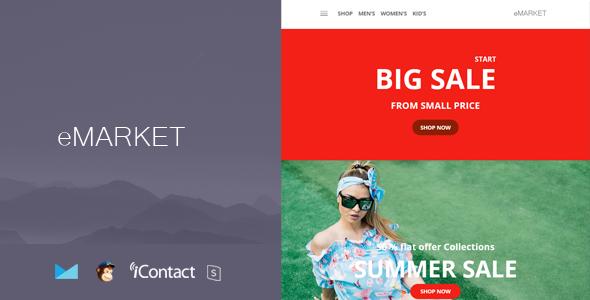 eMarket Mail - Responsive E-mail Template + Online Access            TFx Hilary Ayumu