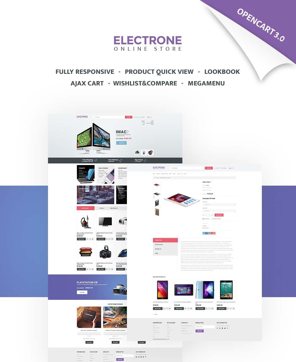 Electronics Store Responsive OpenCart Template TMT Dayton Kody