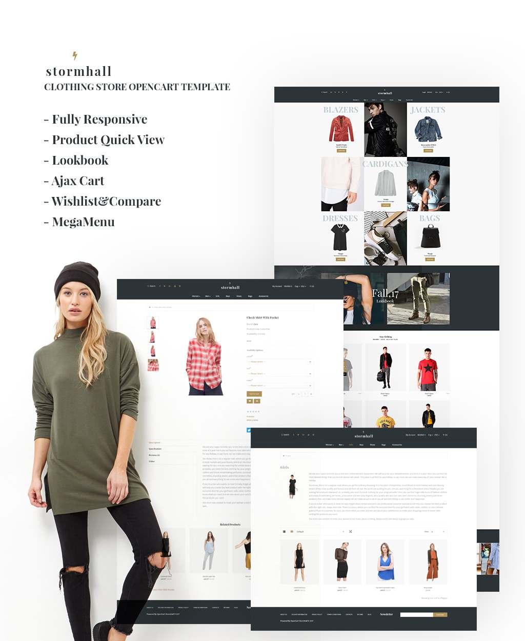 Fashion Store Responsive OpenCart Template TMT Kuro Royale