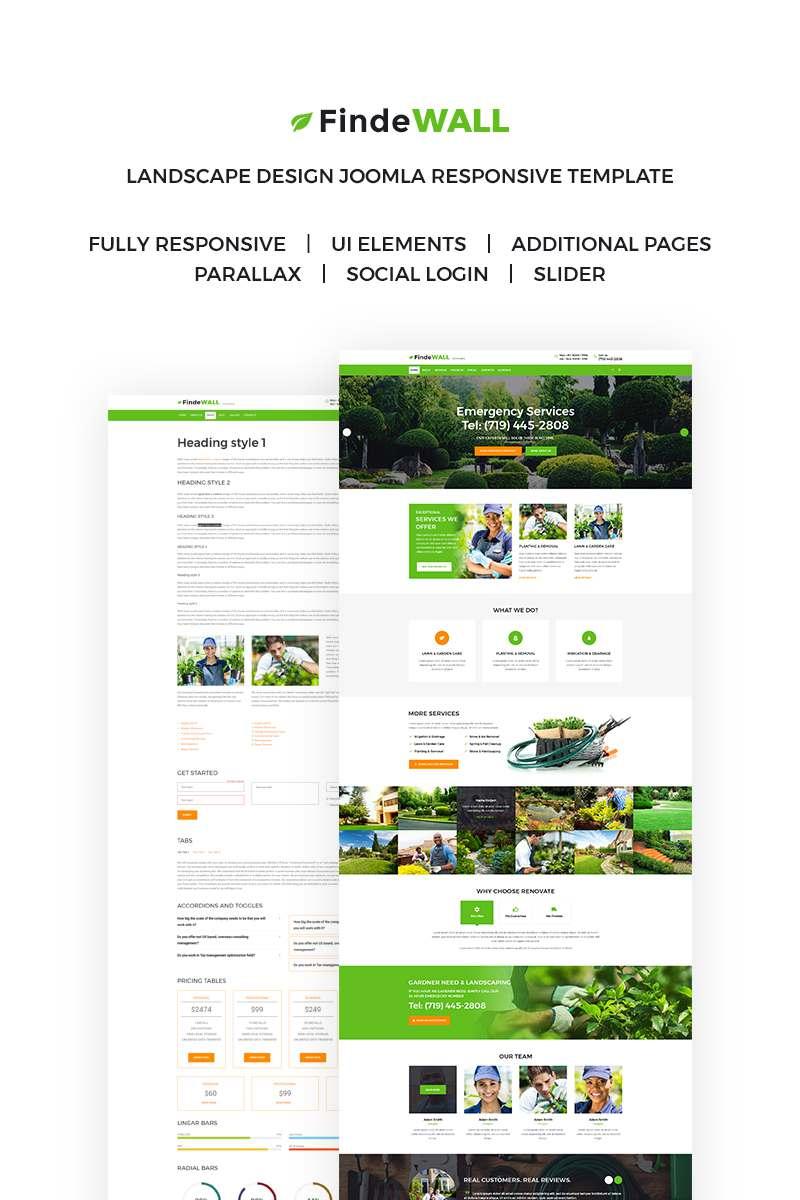 Landscape Design Responsive Joomla Template TMT Caedmon Hugo