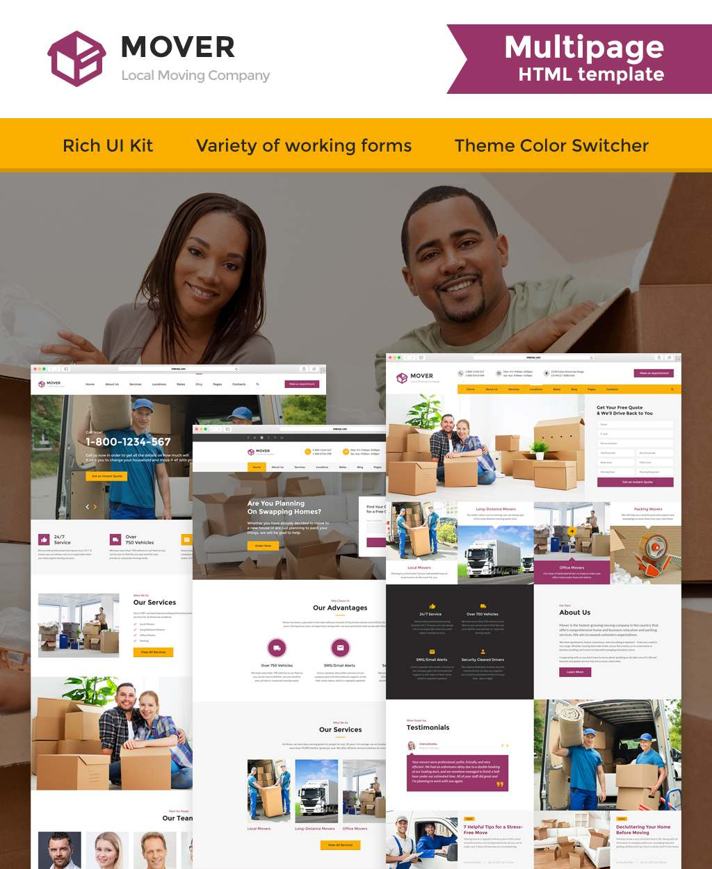 Moving Company Responsive Website Template TMT Ross Smith