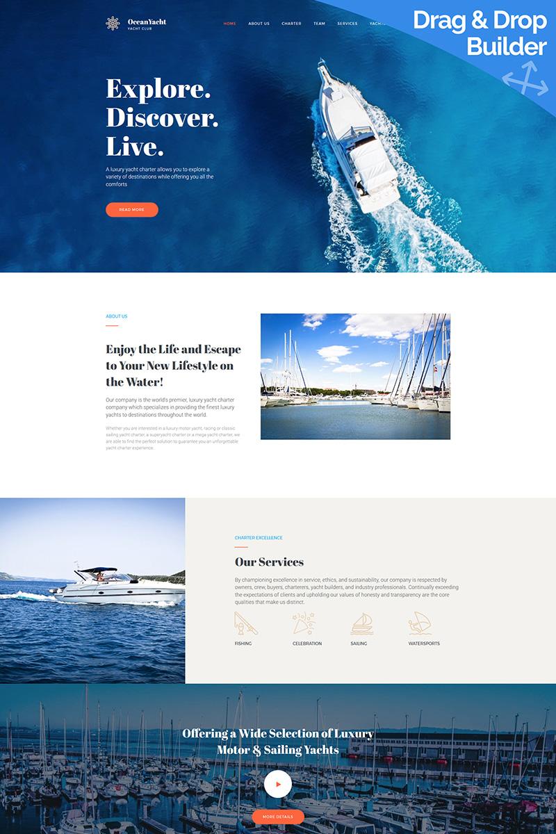 OceanYacht - Yacht Club Premium Moto CMS 3 Template TMT Leigh Gladwyn