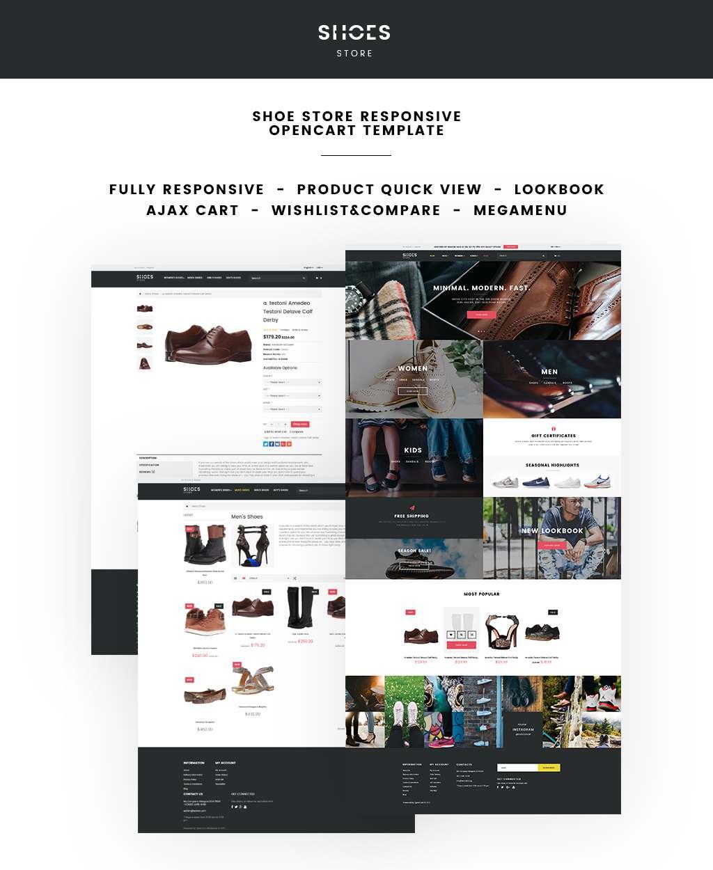 Shoe Store Responsive OpenCart Template TMT Kurt Glanville