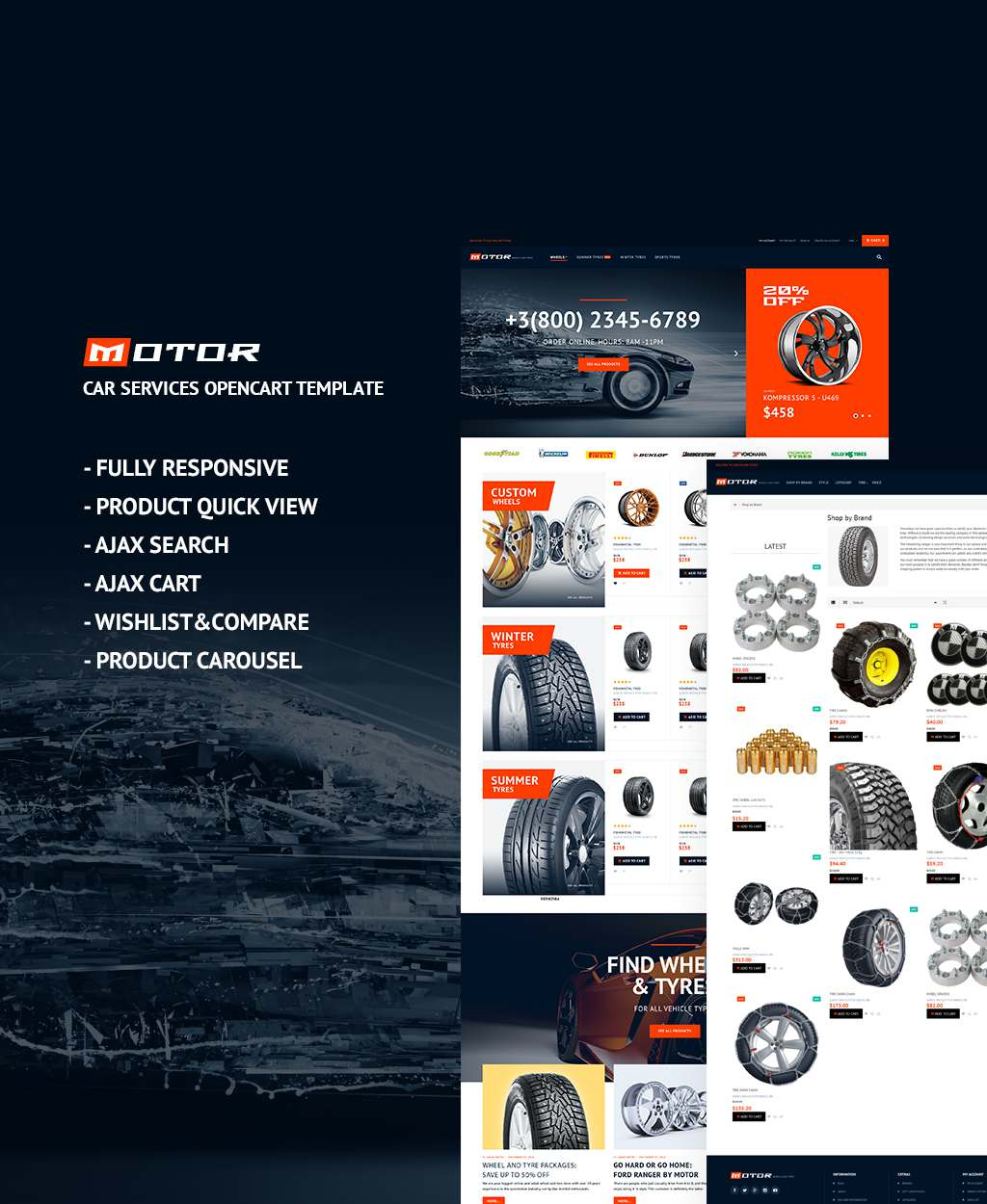 Wheels & Tires Responsive OpenCart Template TMT Ellis Denver