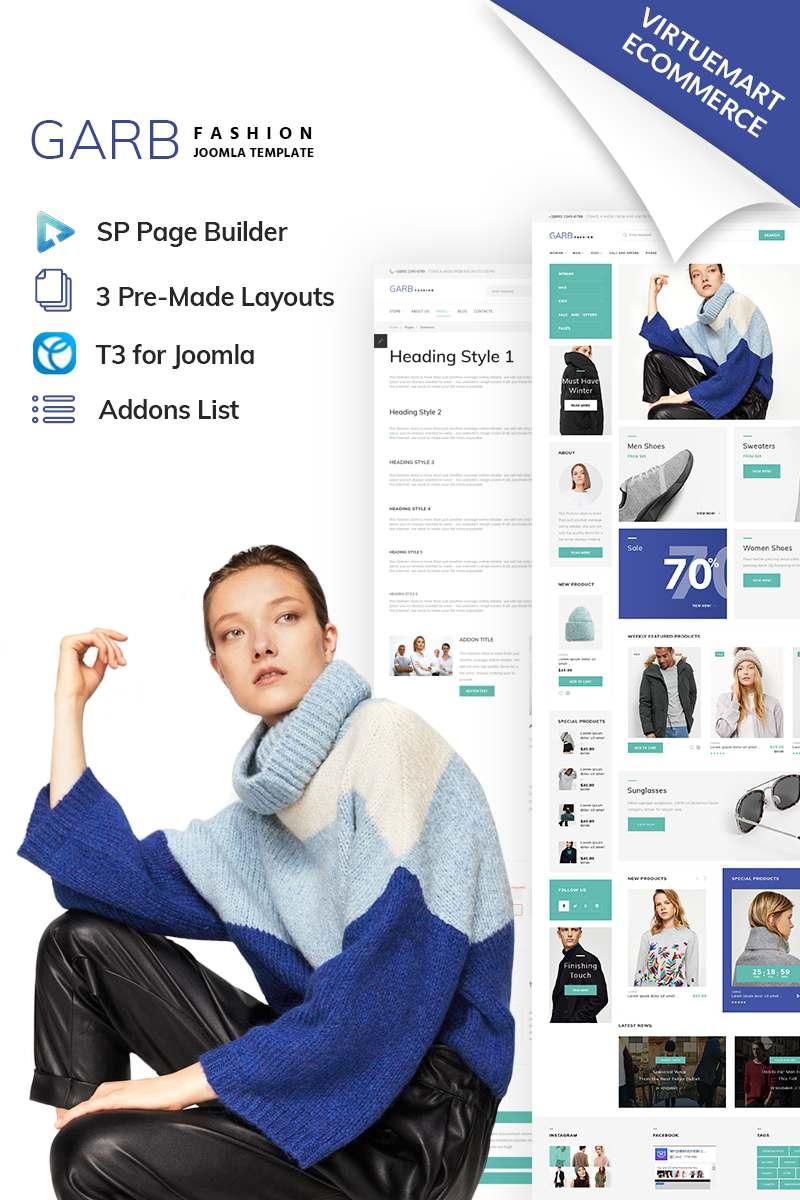 Garb Fashion – Fashion Store Joomla Template TMT Jadyn Christopher