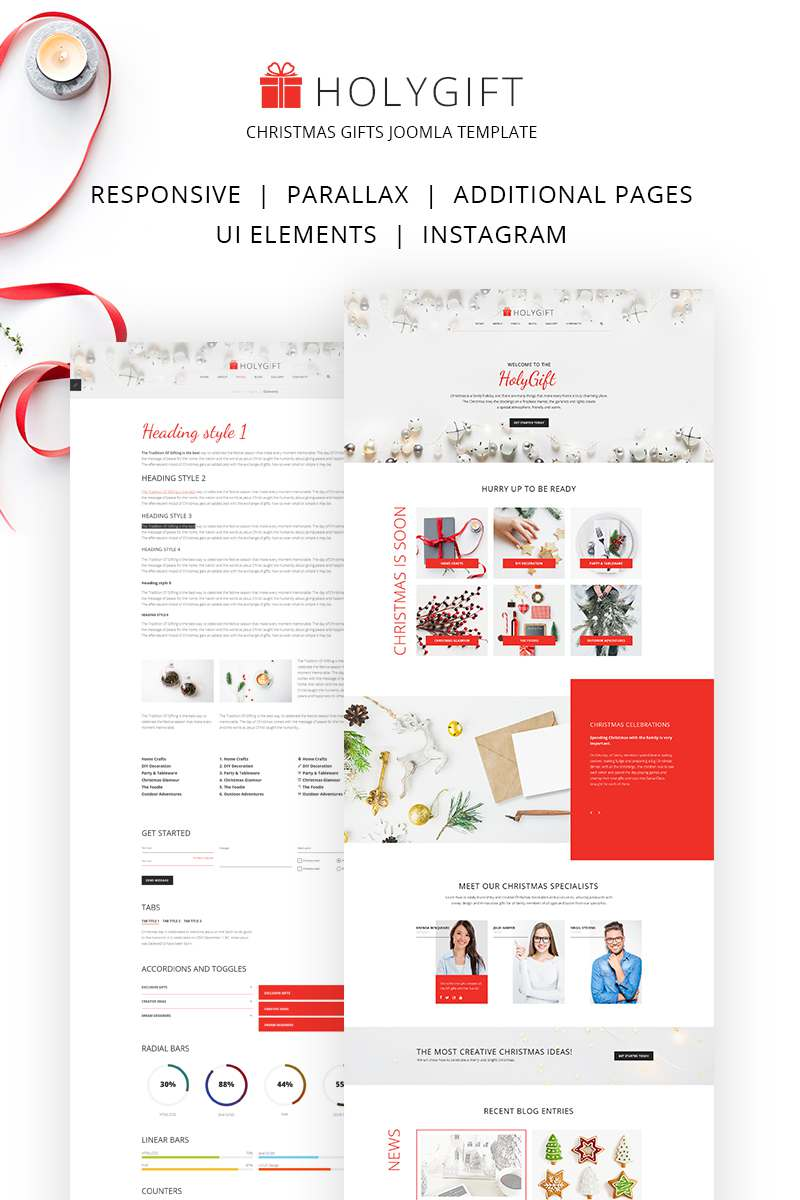HolyGift – Christmas Gifts Store Joomla Template TMT Dylan Travis