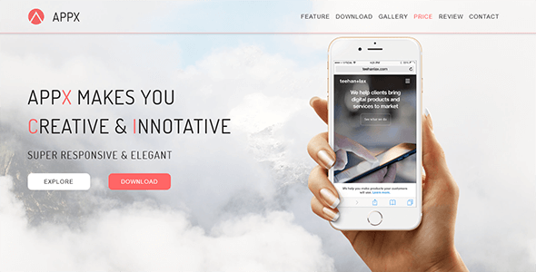 APPX_App Landing Page HTML            TFx Cletus Harold