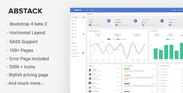 Abstack - Responsive Bootstrap 4 Web App Kit            TFx Bagrat Jep