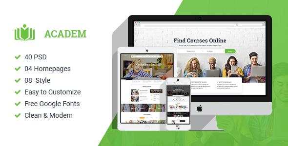 Academ | Multiconcept College & Education PSD Template            TFx Lou Gervase
