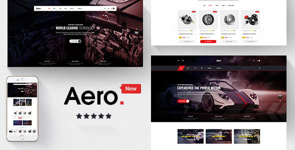 Aero - Car Accessories Responsive Opencart 3.x Theme            TFx Barrett Austin
