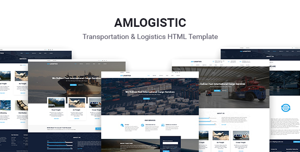 Amlogistic | Transportation & Logistics HTML Template            TFx Orval Jett