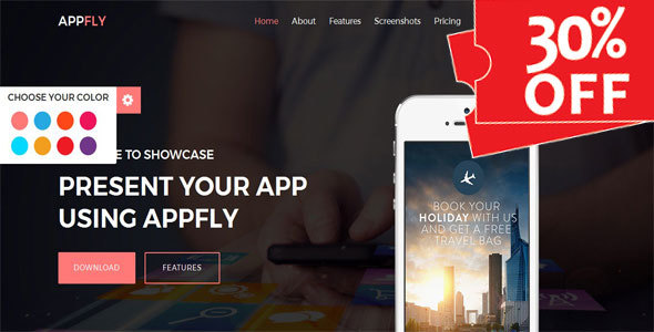 Appfly - Responsive Multipurpose App Landing Template            TFx Rokuro Reynard
