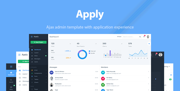Apply - Web Application & Admin Template            TFx Vinnie Leonardo