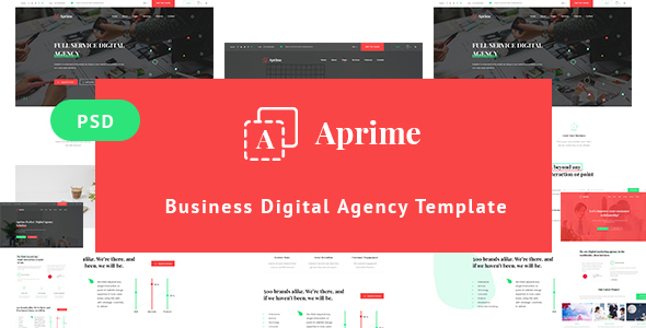 Aprime - Creative Digital Agency Template            TFx Wardell Reg