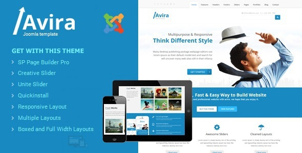 Avira - Responsive Multipurpose Joomla Theme With Page Builder            TFx Neely Layne