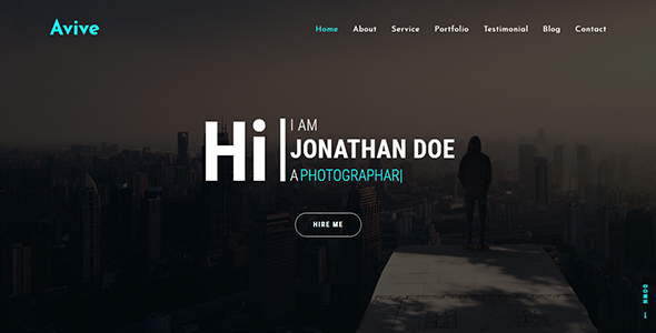 Avive One Page Personal Portfolio HTML Template            TFx Astor Oz