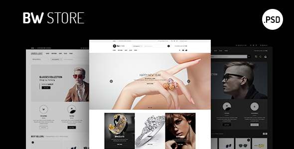 BW Store eCommerce | PSD Template            TFx Lucian Warwick