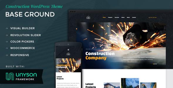 Base Ground - Construction WordPress Theme            TFx Ryuunosuke Kuro
