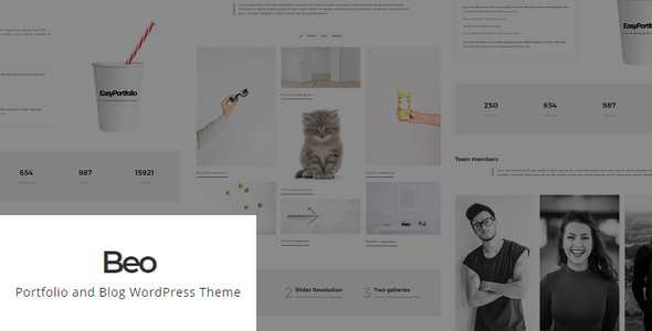 Beo - Portfolio and Blog WordPress Theme            TFx Trevor Syd