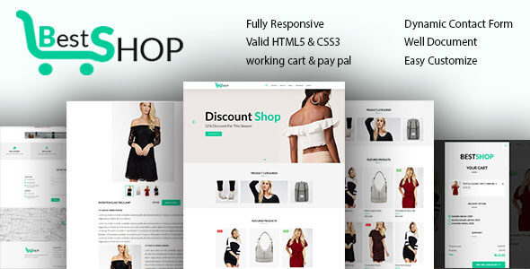 Bestshope – One Page Mini eCommerce Shop Templates            TFx Bede Dannie