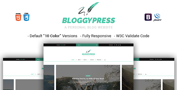 BloggyPress | Responsive Personal Blog HTML5 Template            TFx Plutarch Kiaran