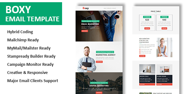 Boxy – Multipurpose Responsive Email Template With Online StampReady Builder Access            TFx Kendal Kevork