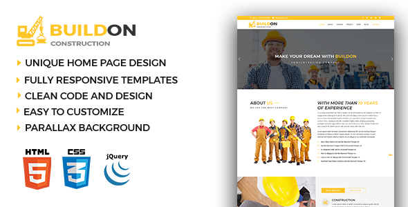 Buildon - Construction & Business HTML5 Template            TFx Leonardo Kerry