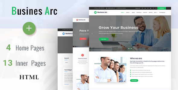 Business Arc - Multi Purpose Business HTML Template            TFx Shawn Irving
