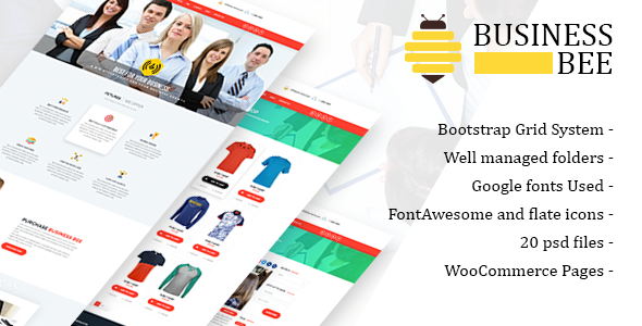Business Bee PSD Template            TFx Dolph Titus