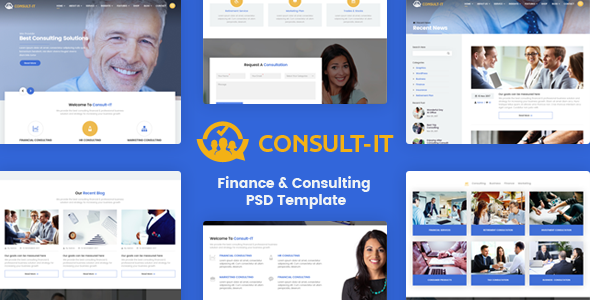 ConsultIt - Consulting & Finance PSD Template            TFx Trev Shel